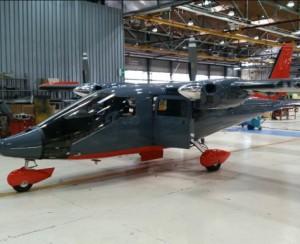 Primeiro Vulcanair Observer que será entrega a Marinha chilena